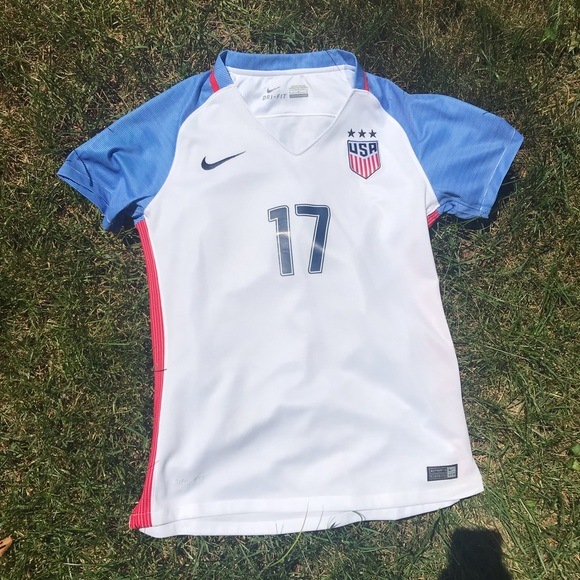 save off 0f152 9778a Authentic Tobin Heath #17 USWNT Soccer Jersey